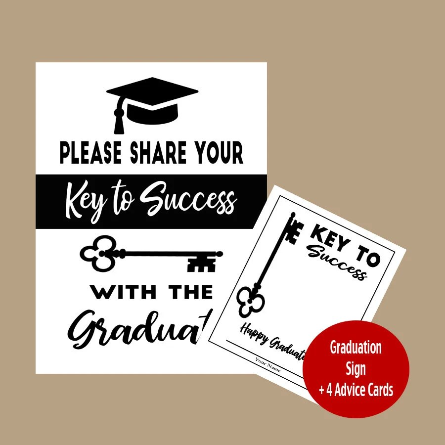 graduation party signs key