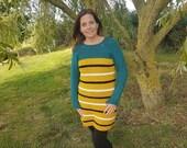 Oakley Jumper Dress - Crochet Pattern - Garment - printable pdf - US & UK terms