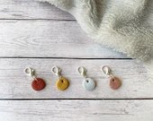 Mini yarn ball stitch markers for crochet & knitting, set of 4
