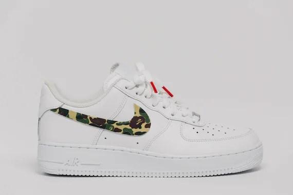 Nike Air Force 1 Bape camo Swooshes Custom Premium