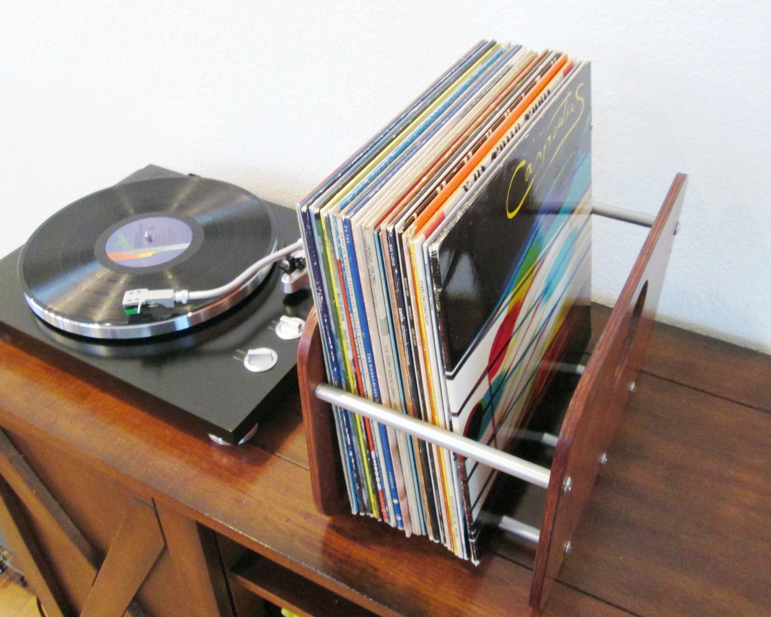 vinyl storage crate for 50 125 albums record rack etsy