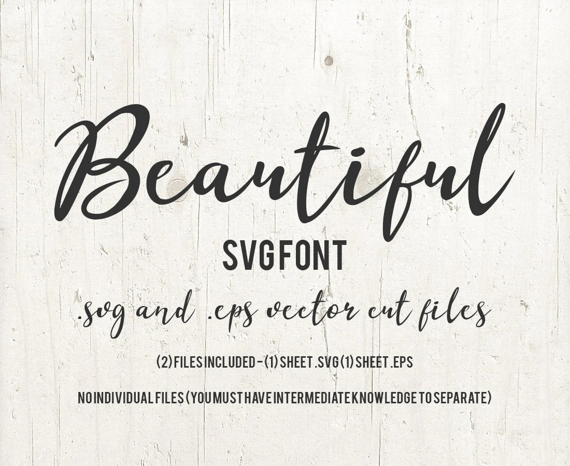 Alphabet Font SVG Cutfile Modern Calligraphy SVG
