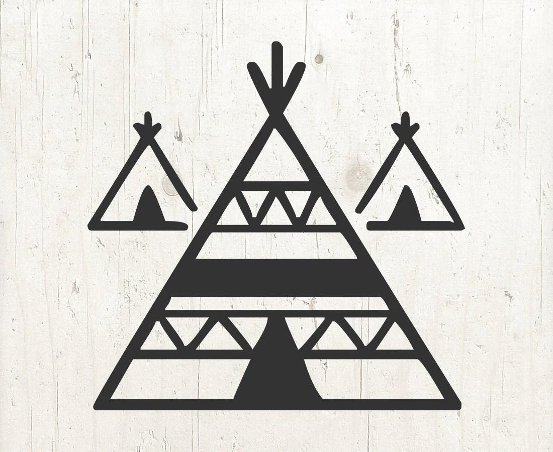 Teepee Svg Tent Svg Tribal Svg Indian Teepee Boho Svg
