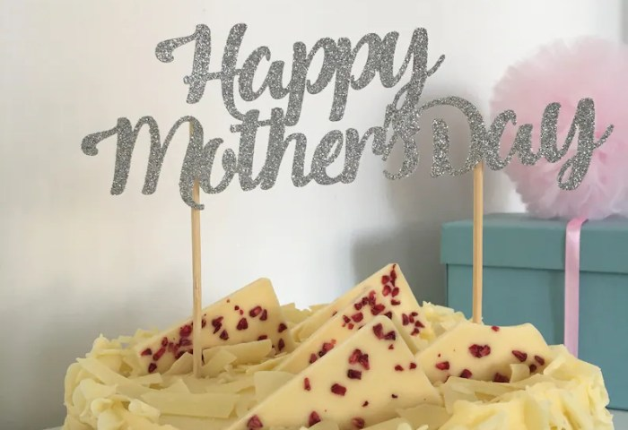 Happy Mothers Day Cake Topper Mothers Day Cake Etsy