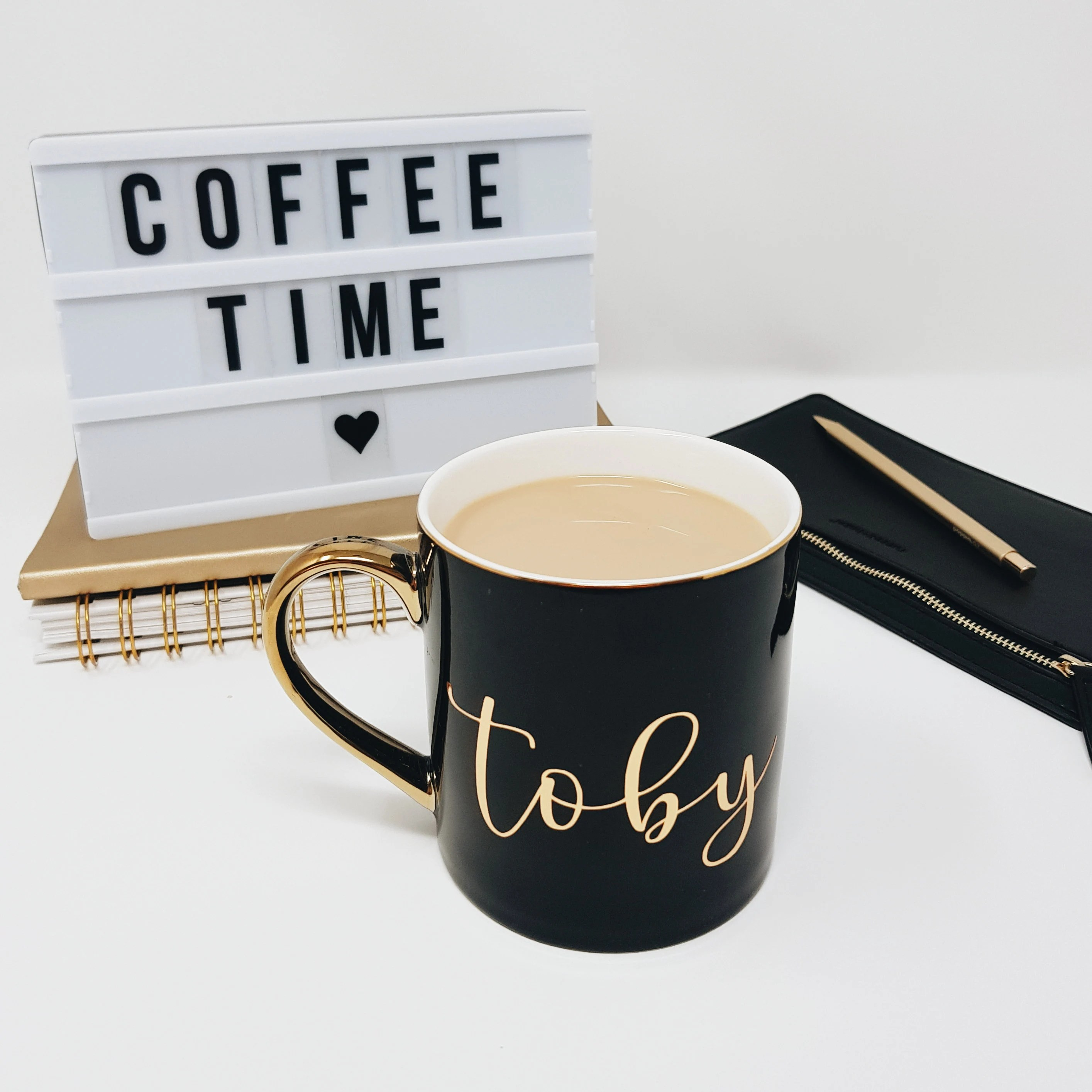 gold coffee mug personalized