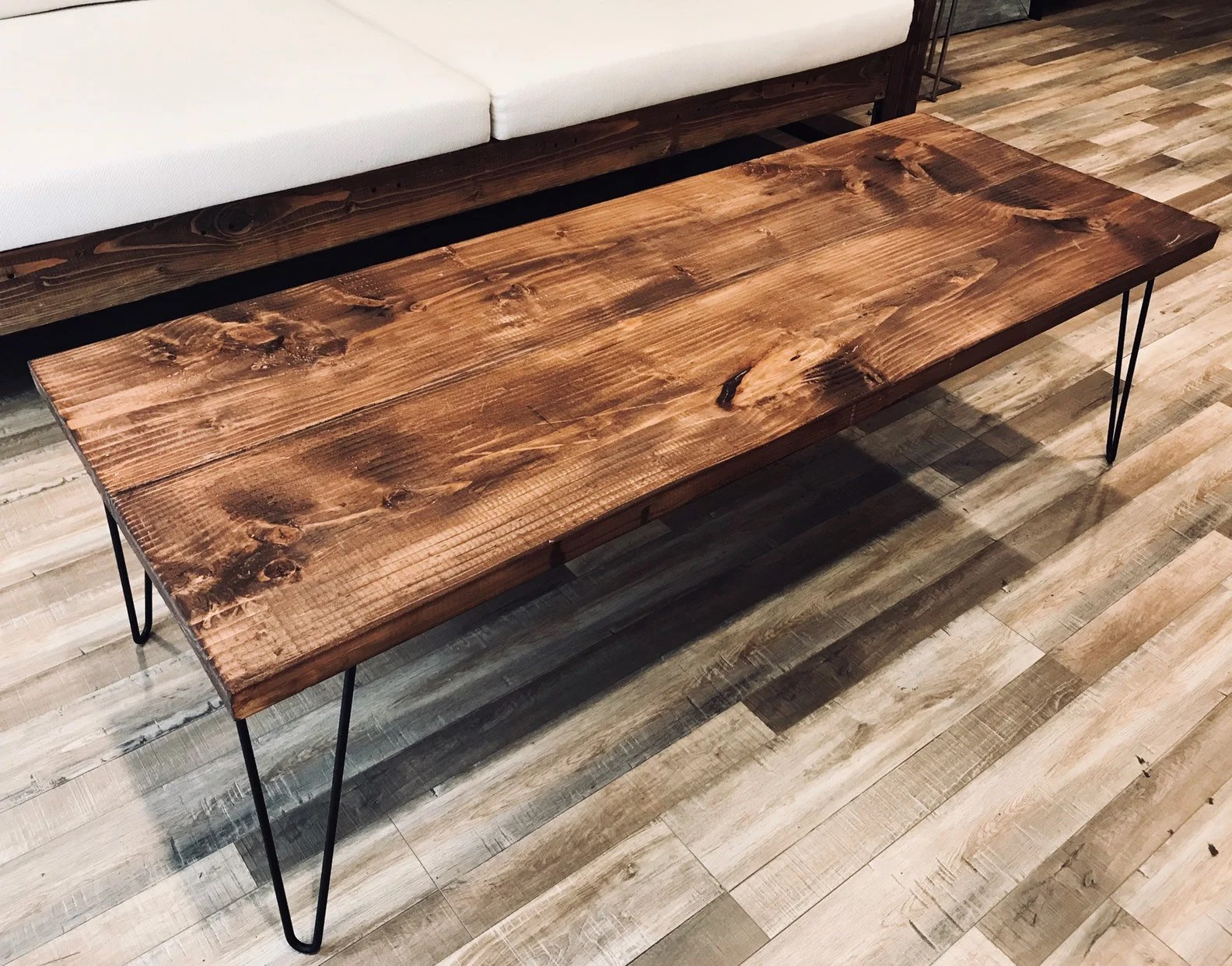 rustic coffee table coffee table farmhouse coffee table boho table wood table wooden coffee tables with hairpin legs by kustom madera