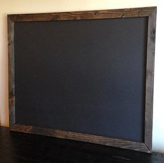 framed chalkboard etsy