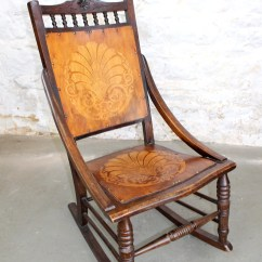 Antique Wooden Rocking Chairs Revolving Chair For Study Table Etsy 1920 S With Beautiful Pattern Vintage