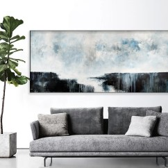 Large Artwork For Living Room Best Pictures Wall Art Etsy Seascape Abstract Print On Canvas Paper Painting Extra Gray White Horizontal 869
