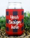 Buffalo Plaid Can Cooler Mockup Can Cooler Mock Up Blank Etsy