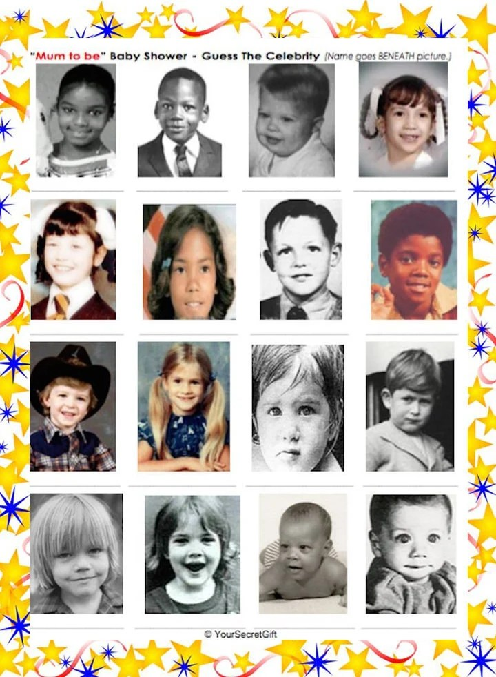 Guess The Celebrity Baby Photo : guess, celebrity, photo, Shower, Guess, Celebrity, Party
