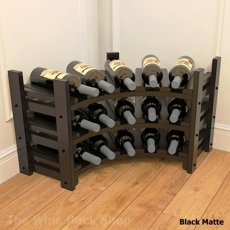 small corner wine rack for counter or table top or floor etsy