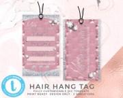 diy pink hair hangtags template
