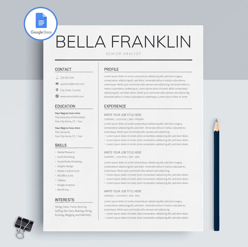 Resume Templates Google | mwb-online co