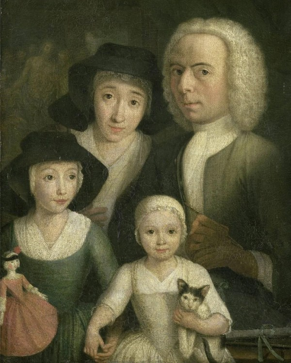 4 Personages Portrait Custom Family Classical