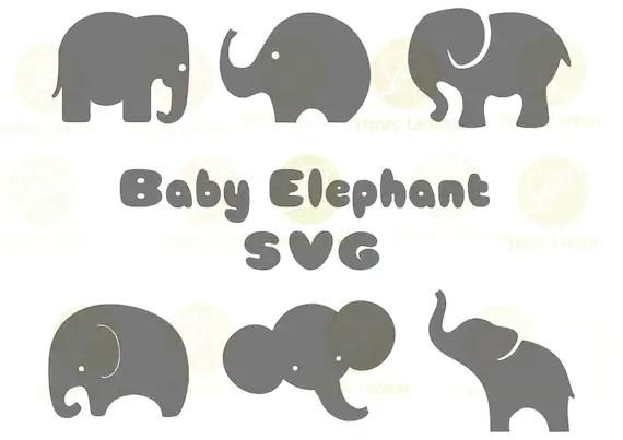 Download Cute Baby Elephant SVG Bundle, Elephant SVG, Baby Elephant ...