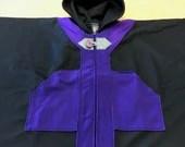 Purple/Black Small Single Layer Cape