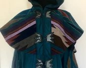 Teal Desert Crystal Tracker Coat
