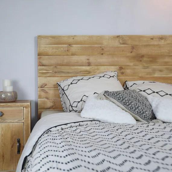 tete de lit bois massif vieilli ida plusieurs tailles disponibles