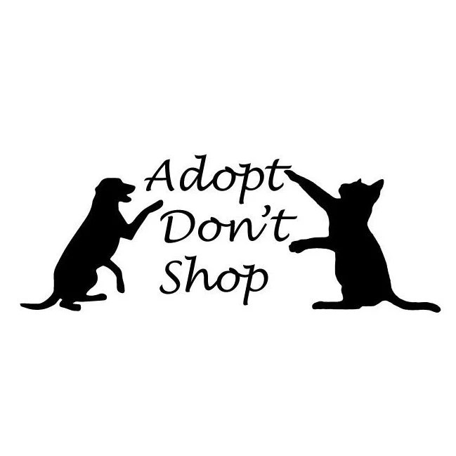 Adopt Don't Shop Humane Society DecalOne Dollar of every