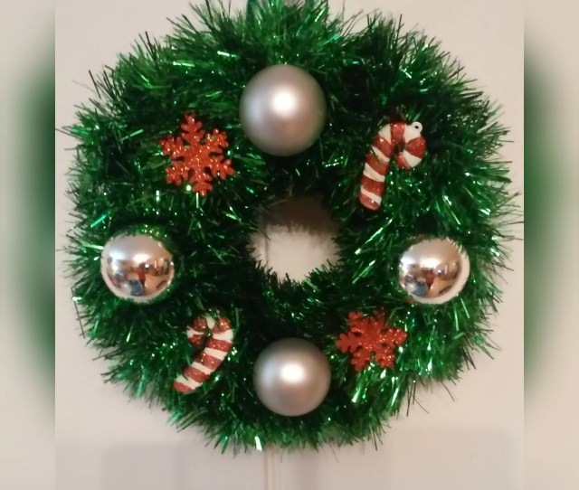 Christmas Wreath Tinsel Wreath Mini Wreath Indoor Wreath
