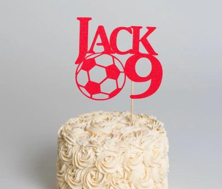 Football Cake Topper Football Cake Decoration Boys Birthday Etsy