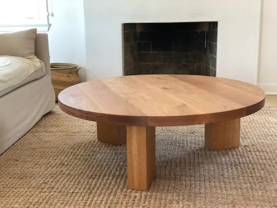 the og 40 white oak modern round 3 leg coffee table