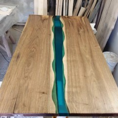 Wooden Kitchen Table How To Decorate Your Epoxy Resin Dining Burned Wood Etsy Image 0