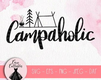 Download I Love Camping SVG Camping Svg cut file Campfire Svg   Etsy