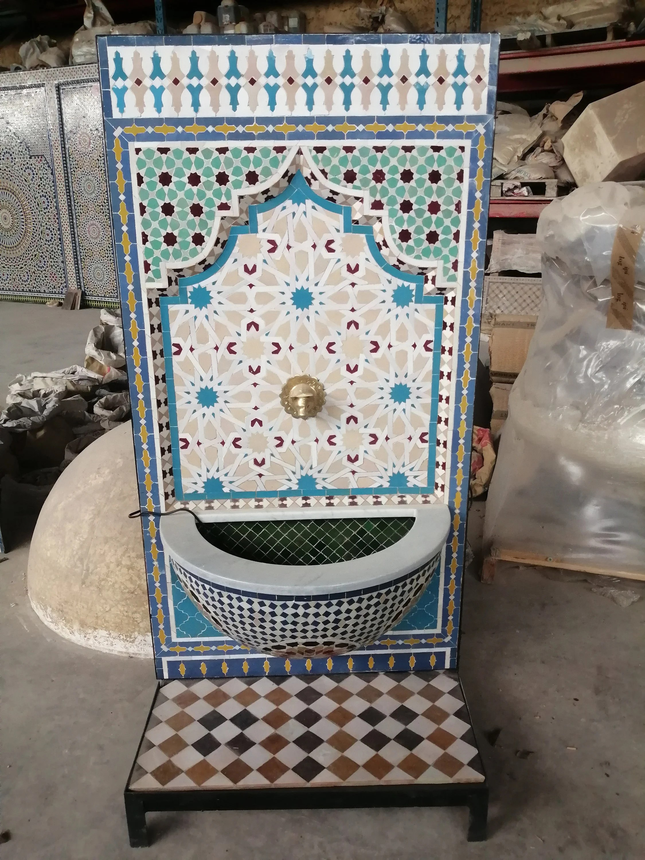 moroccan zellige fountain moroccan mosaic tile fountain etsy