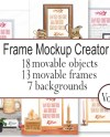 Moveable Mockup Scene Creator With Moveable Objects Frame Etsy
