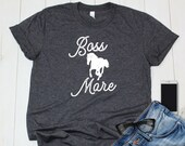 Boss Mare Horse Shirt, Equestrian Clothing for Horseback Riding, Gift for Horse Lover