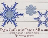 Snowflake svg - Healed from the Inside out (3 design option) - Digital SVG File for Cricut or Silhouette, DXF, PNG, Eps, Vector Instant Down  Holidays and Winter il 170x135