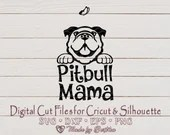 Pitbull Mama svg, Pit bull MOM, Dog Lover SVG, Pitbull Svg, Dog Mom, Pet Mom, Pitbull Mom svg, Mother's Day, Digital download  Mom il 170x135
