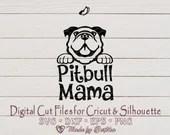Pitbull Mama svg, Pit bull MOM, Dog Lover SVG, Pitbull Svg, Dog Mom, Pet Mom, Pitbull Mom svg, Mother's Day, Digital download  Mom il 170x135