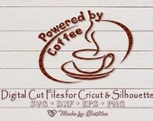 Powered by Coffee - Digital SVG File for Cricut or Silhouette, DXF, PNG, Eps, Vector Download, Snowman  Inspirational il 170x135
