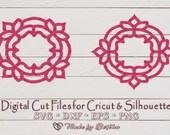 Mandala SVG - Asian Lotus (Monogram) -  Zentangle - Digital SVG File for Cricut or Silhouette, DXF, Png, Eps, Vector Download  Miscellaneous il 170x135