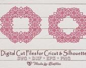 Mandala, Monogram, Chinese Wreath, Zantagle SVG, File for Cricut, Silhouette, Glowforge  Miscellaneous il 170x135