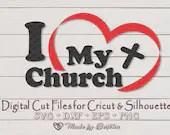 I Love My Church SVG file - Church Ministry  Inspirational il 170x135