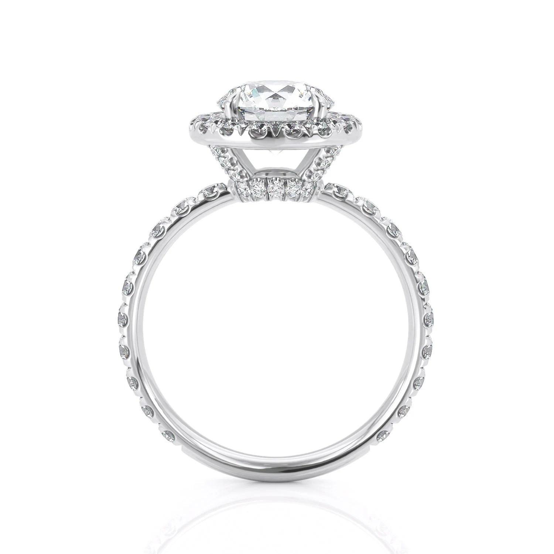 Diamond Halo Engagement Ring White Gold Diamond Halo Ring