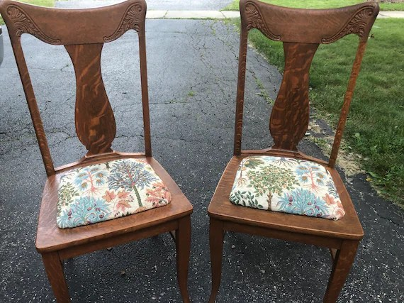 sikes chair company walmart portable chairs four antique oak handmade etsy image 0