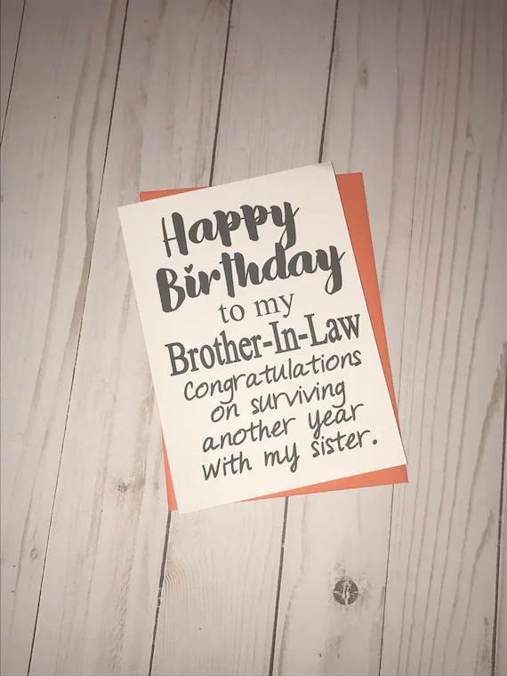 Funny Brother In Law Birthday : funny, brother, birthday, Happy, Birthday, Brother-in-law., Funny, Card.