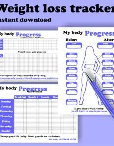 Image also printable weight loss tracker progress chart bullet etsy rh
