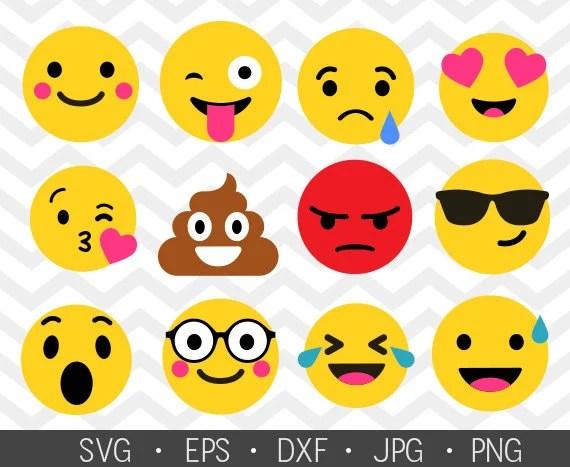emoticons svg set of