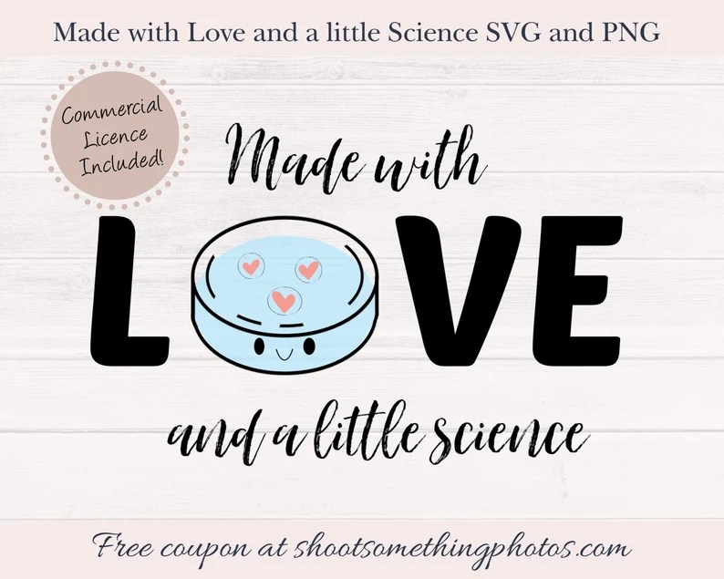 Download Made with Love and a little Science IVF SVG Infertility   Etsy