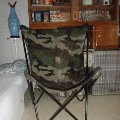 Lafuma Pop Up Chairs Wedding Chair Covers Northampton Jc Castelbajac Canvas Camouflage Vintage Etsy Image 0