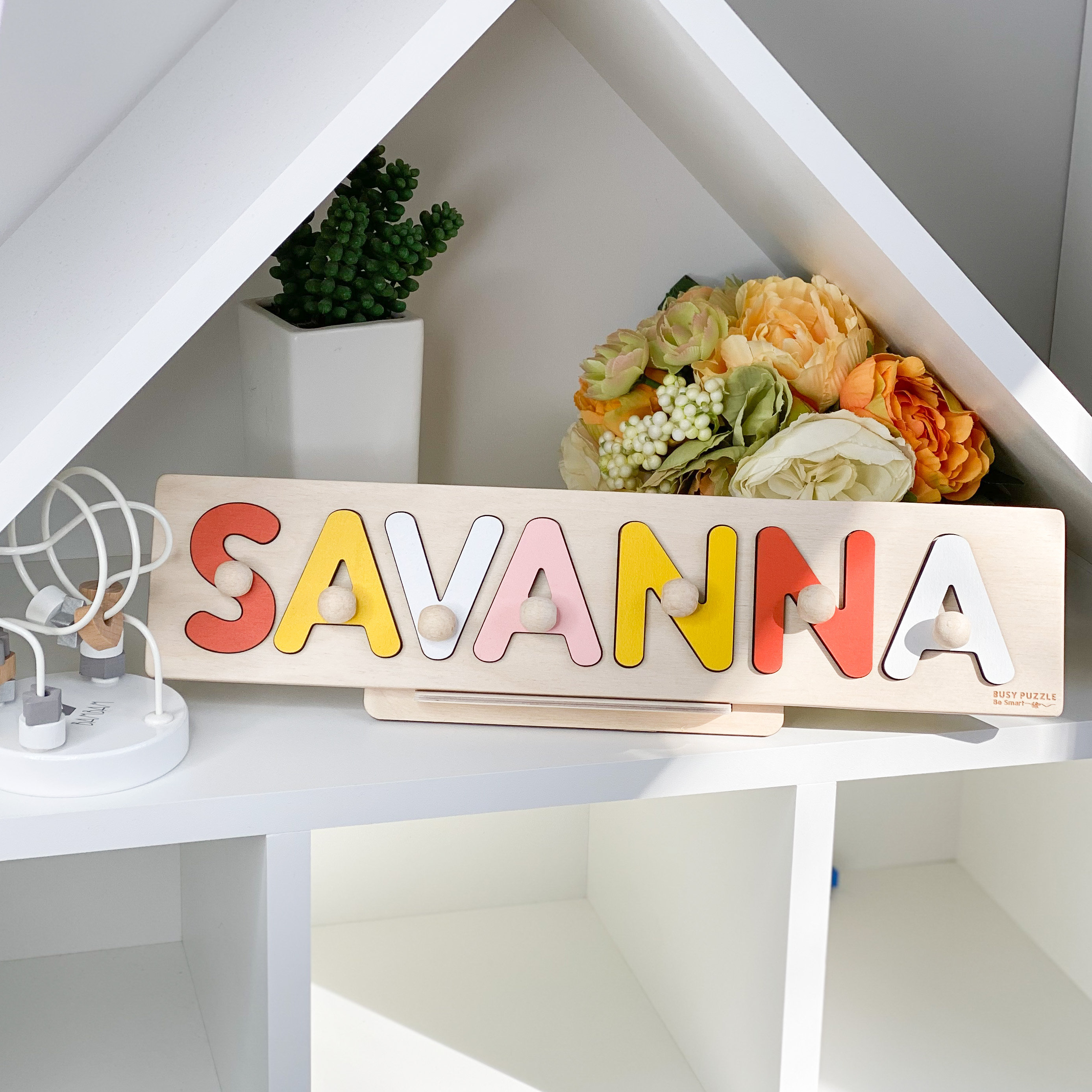 Baby Girl and Baby Boy Name Puzzle by BusyPuzzle image 2