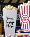 Small Popcorn Bucket Mock Up Dollar Tree Popcorn Container Etsy