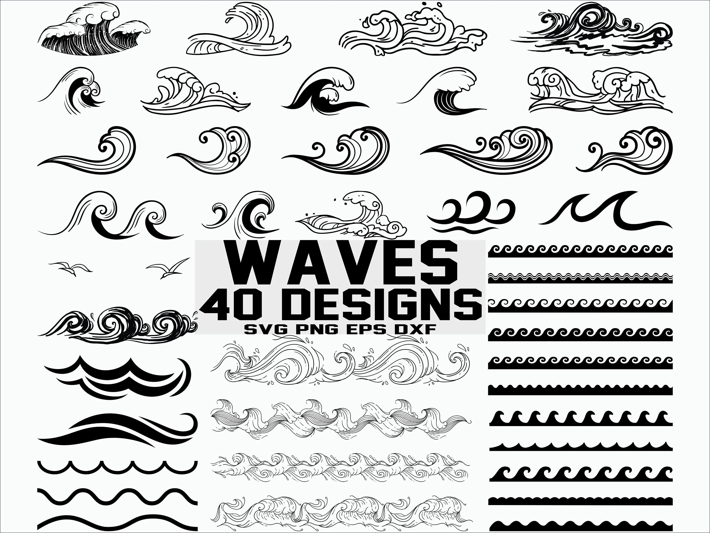 Wave SVG / Sea Waves svg/ Ocean Waves svg/ Clipart/ Cut