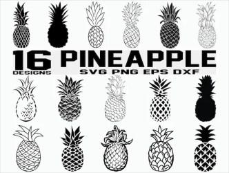 Pineapple SVG/ Pineapple Clipart/ Pineapple fruit svg/ Etsy